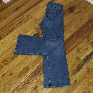 Gap stretch essential blue wide leg 5 pocket jeans